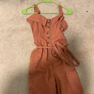 Rust Jumpsuit
